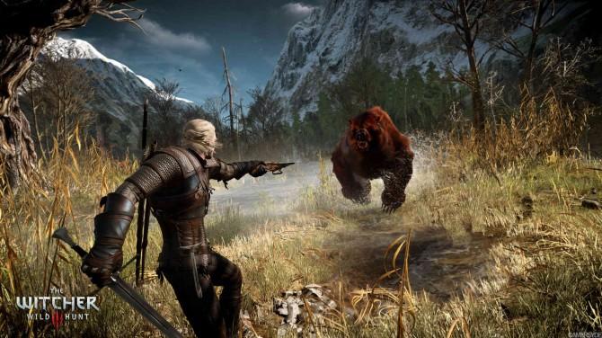 the witcher 3_geralt_bear