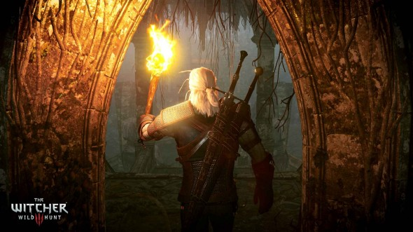 the witcher 3_torch_cave